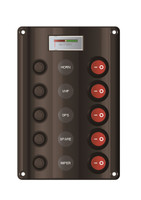 Wave Design Panel 5 Switch w/ Battery Meter