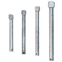 Galvanised Roller Spindles with Flat End