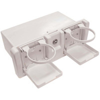 Glove Box Deluxe with Drink Holders White