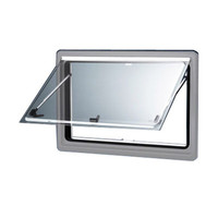 Seitz S4 Double Glazed Window With Screen & Blind - Silver Frame - 500 x 350mm