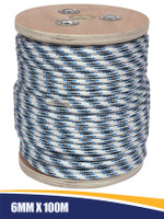 Double Braid Anchor Rope with Spliced Thimble 6mm x 100m