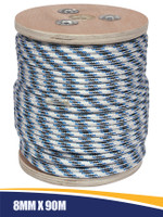 Double Braid Anchor Rope with Spliced Thimble 8mm x 90m