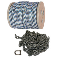 Double Braid Anchor Rope and Chain Kits