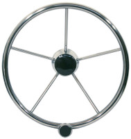 Stainless Steering Wheel with Speed Knob 16""