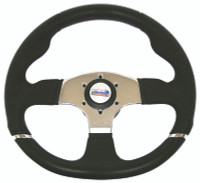 Sportline Runner Steering Wheel with Silver Inserts