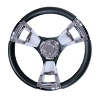 Gussi Steering Wheel with Chrome Inserts
