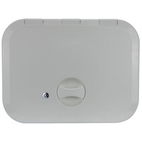 Europa Access Hatch with Lock White