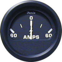 "Euro 2"" Ammeter 60-0-60 amps"