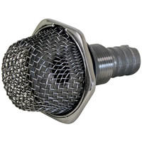 Strainer Thru Hull 20mm Tail 316 Stainless Steel