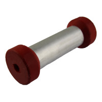 Red Poly Rollers Alloy Centre