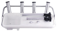 Stainless Steel Bait Board With Rod Holders & Sink