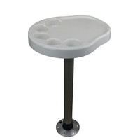 Palm Table with Pedestal