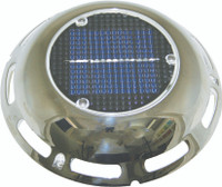Solar Vent With Battery Stainless Steel