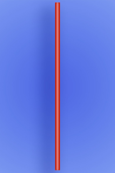"JUMBO STRAW 20"" - RED - 2/750 (1,500/case)"