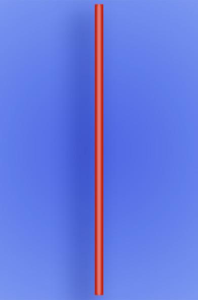 "JUMBO STRAW 20"" - RED - 2/750 (1,500/case)"