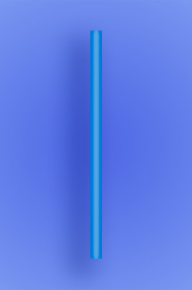 "GIANT COCKTAIL STRAW 5.5"" -  BLUE - 10/150 (1,500/case)"