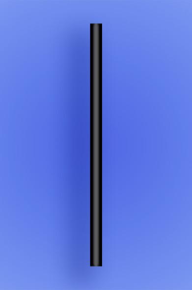 "GIANT COCKTAIL STRAW 5.5"" - BLACK - 10/150 (1,500/case)"