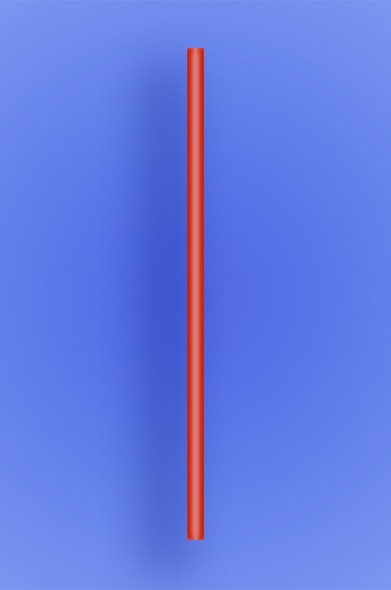 "JUMBO STRAW 7.75"" - RED - 10/250  (2,500/case)"