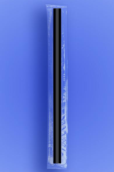 "GIANT STRAW 12"" - CELO WRAPPED - BLACK - 1/2,500 (2,500/case)"