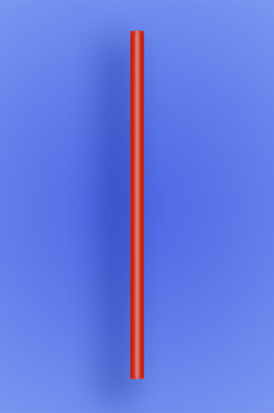 "GIANT STRAW 9"" - RED  - 30/300 (9,000/case)"