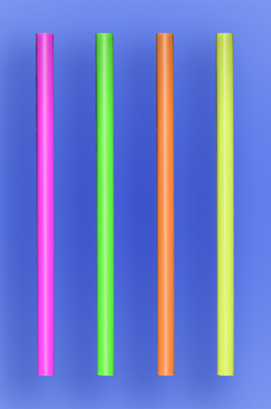 "GIANT STRAW 7.75"" - NEON - 10/150 (1,500/case)"