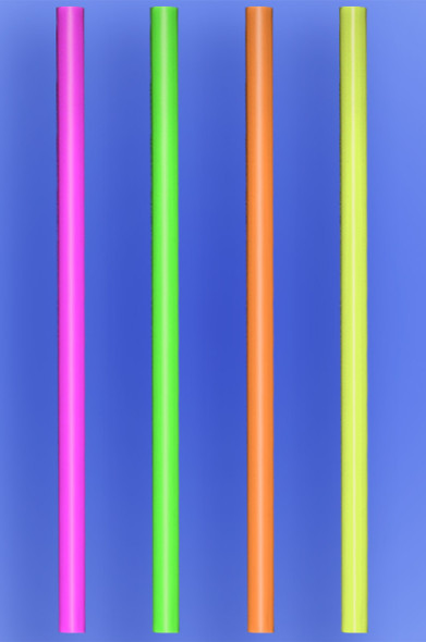 "GIANT STRAW 12"" - NEON - 5/600 (3,000/case)"