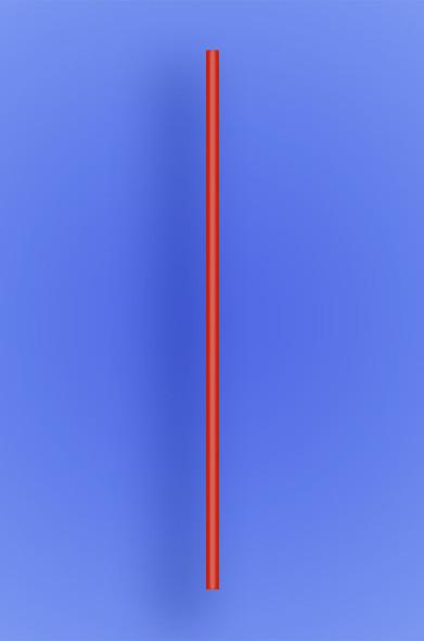 "SEMI-SLIM COCKTAIL STRAW 7.75"" - RED - 10/500 (5,000/case)"