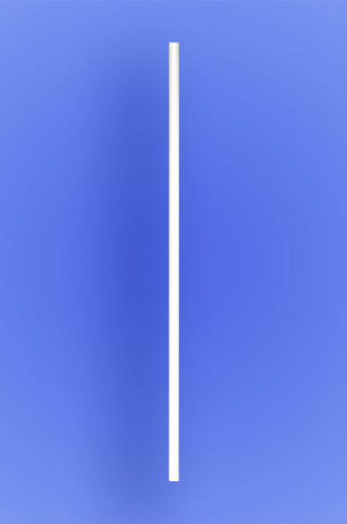 "SEMI-SLIM COCKTAIL STRAW 7.75"" - WHITE - 10/500 (5,000/case)"