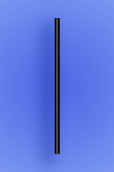 "JUMBO COCKTAIL STRAW 5.5"" - BLACK - 30/250 (7,500/case)"