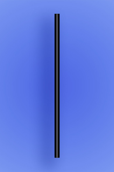 "JUMBO STRAW 7.75"" - BLACK - 30/250 (7,500/case)"