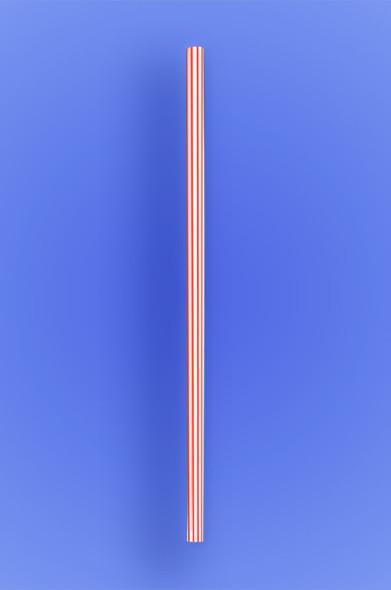 "JUMBO STRAW 7.75"" - RED STRIPES - 30/250 (7,500/case)"
