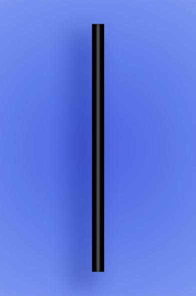 "GIANT STRAW 7.75"" - BLACK - 30/150 (4,500/case)"