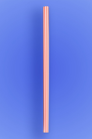 "GIANT STRAW 10.25"" - RED STRIPES - 30/150 (4,500/case)"