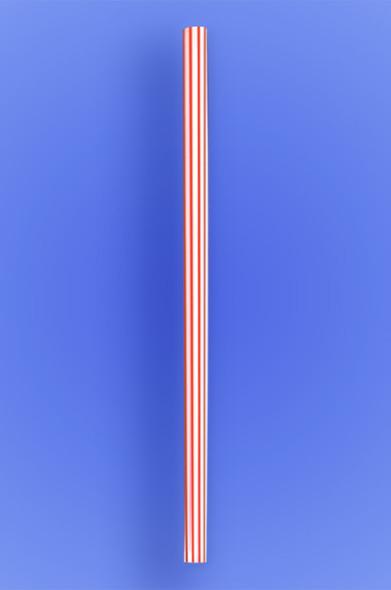 "GIANT STRAW 10.25"" - RED STRIPES - 30/150 (4,500/case)"