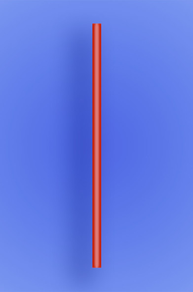 "JUMBO STRAW 10.25"" - RED - 4/750 (3,000/case)"