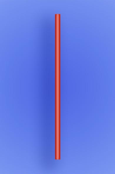 "JUMBO STRAW 10.25"" - RED - 4/750 (3,000/case)"