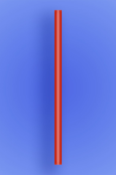 "GIANT STRAW 10.25"" - RED - 10/150 (1,500/case)"