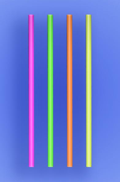 "JUMBO STRAW 7.75"" - NEON - 10/250 (2,500/case)"