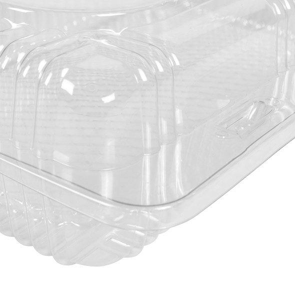 """HINGED LID DELI CONTAINER - STANDARD 6"""" x 7"""" x 2.25"""" RECTANGULAR - 500/CASE"""