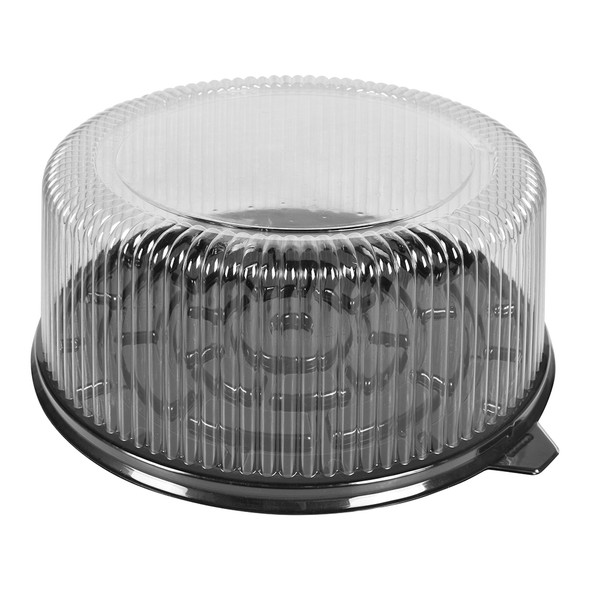 """9"""" CAKE CONTAINER - 11.5"""" BLACK BASE - 4.50"""" TALL - 50/CASE"""