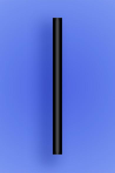 "COLOSSAL STRAW 8.5"" - BLACK - 2/650 (1,300/case)"