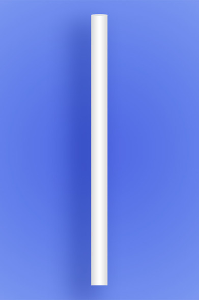 """COLOSSAL STRAW 10"""" - WHITE - 2/650 (1,300/case)"""