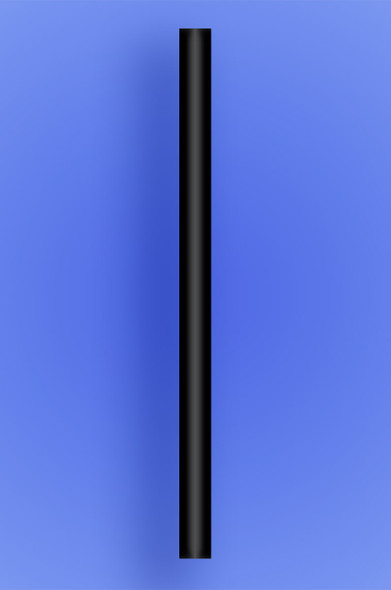 "COLOSSAL STRAW 10"" - BLACK - 2/650 (1,300/case)"