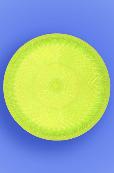 "DELUXE PLATE 9"" - NEON YELLOW - 10/10 (100/CASE)"