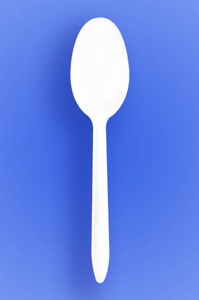 MEDIUM WEIGHT PREMIUM SPOON, FORK, KNIFE - WHITE - 3/1000 (3,000/case)