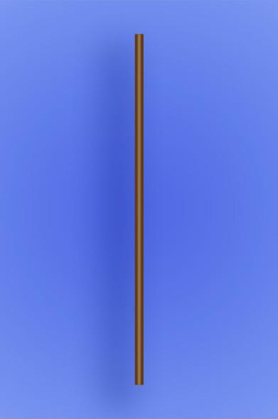 """SLIM COCKTAIL/STIR STRAW 5.25"""" - BROWN - 10/1000 (10,000/case)"""