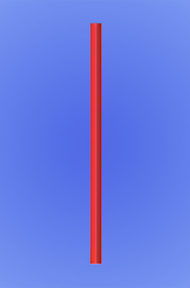 "GIANT STRAW 7.75"" - RED - 10/150 (1,500/case)"
