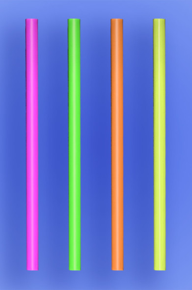 "GIANT STRAW 10.25"" - NEON - 30/150 (4,500/case)"