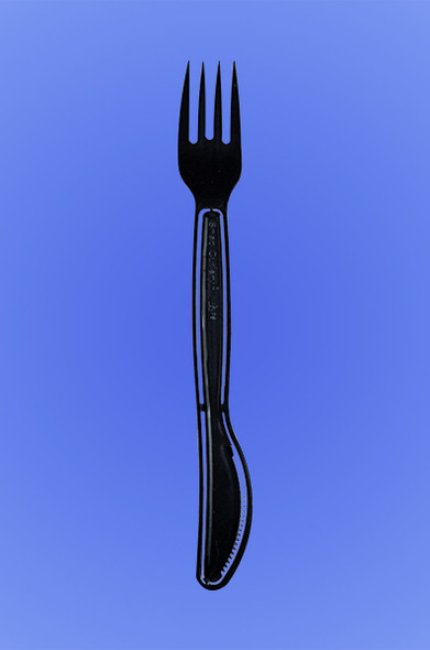 SNAP CUTLERY - FORKNIFE - BLACK PS - 6/100 (600/case)