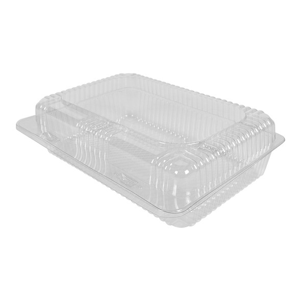 """HINGED LID DELI CONTAINER 7"""" x 10"""" - 3"""" TALL  - 300/CASE"""